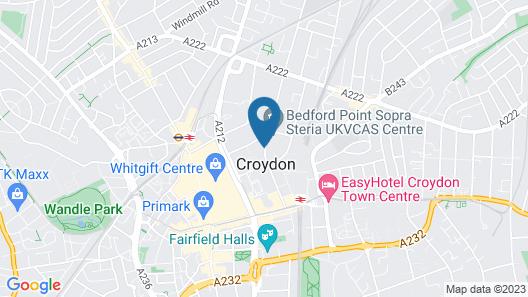 Hampton by Hilton London Croydon Map