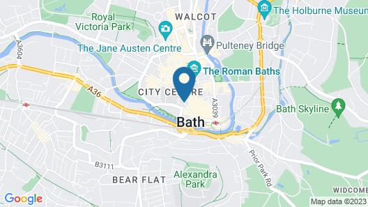 SACO Bath - St James's Parade Map
