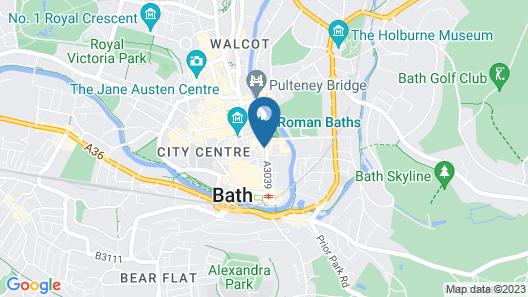 Bath Backpackers Hostel Map
