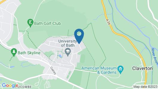 University of Bath, Eastwood Halls Map