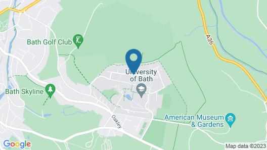 University of Bath Guest Accommodation Map