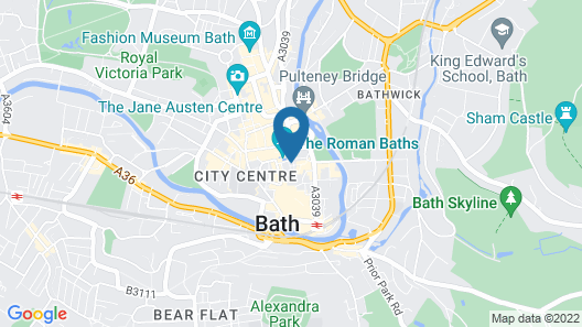 ABBEY GREEN - Gorgeous Period Apartment in the very centre of Bath Map