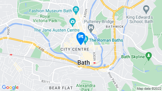 Beautiful City Centre Apartment - Bath Map