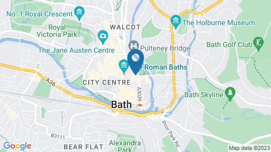 Abbey Hotel Bath, A Tribute Portfolio Hotel Map