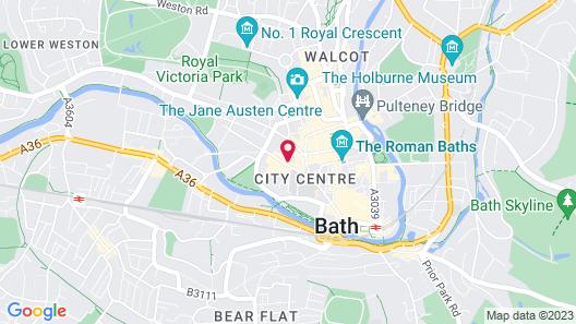 Apex City of Bath Hotel Map