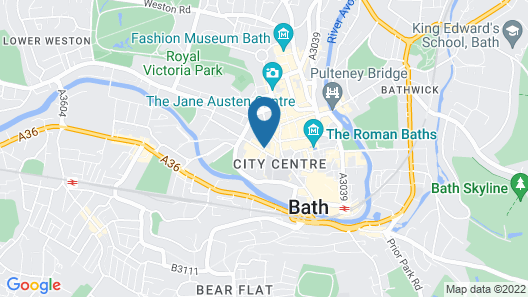 Apex City of Bath Hotel Map
