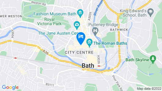 Elegant Period Apartment in The Heart of Bath Map