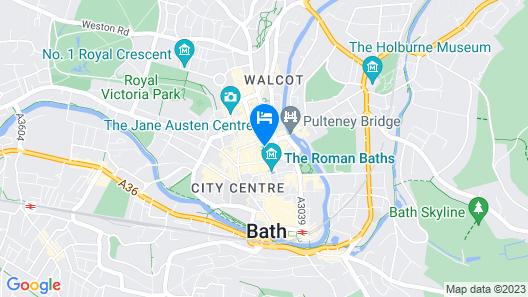 Superior Stays Luxury Apartments - Bath City Centre Map
