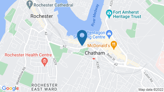 St George Hotel Rochester-Chatham Map