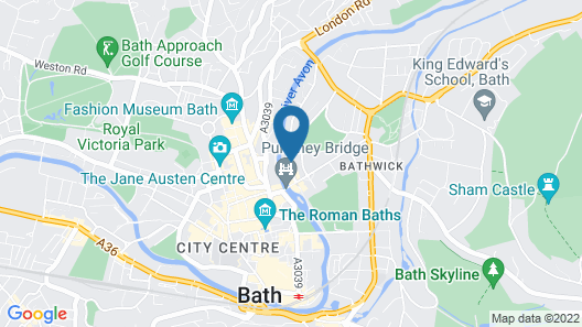 Bath Holiday Suites Map