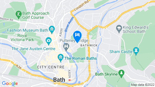 No.15 Great Pulteney Hotel and Spa Map