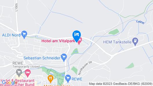Hotel Am Vitalpark Map