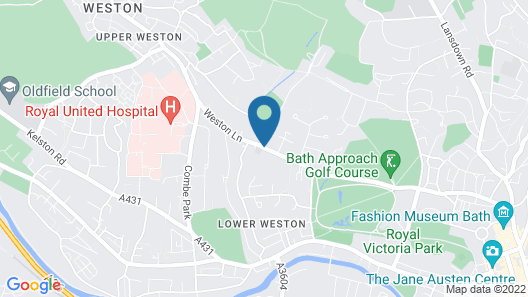 The Bath Priory Hotel and Spa Map