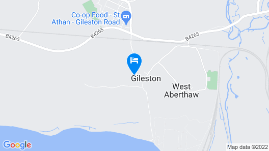 The Coach House at Gileston Manor Map