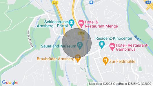 300 Jahre Altes Haus in der Historischen Altstadt von Arnsberg Map