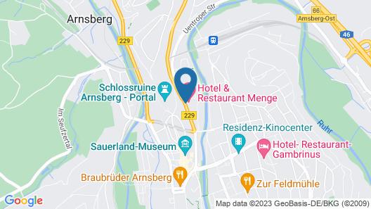 Hotel & Restaurant Menge Map