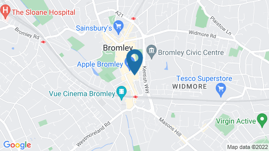 ibis budget London Bromley Town Centre Map
