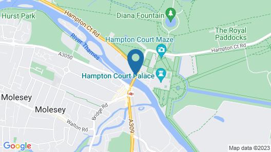 The Mitre Hotel Hampton Court Map
