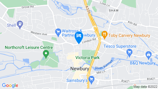 Newbury Serviced Apartments Map