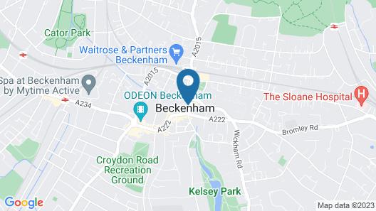 BECKENHAM HIGH STREET Map