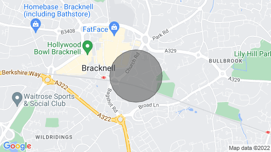Studio Flat in Central Bracknell Map