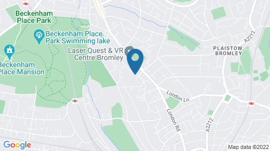 The Bromley Court Hotel Map