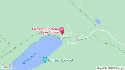 Fairmont Chateau Lake Louise Map