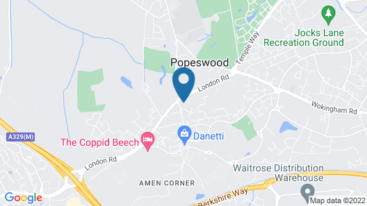 Travelodge Bracknell Map