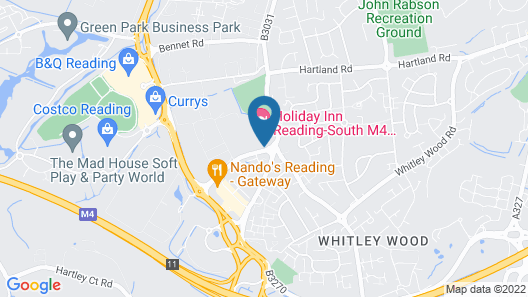Holiday Inn Reading South M4 Jct11 Map