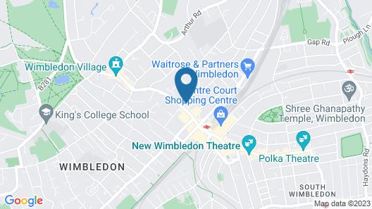 Wimbledon Holiday Lets Map