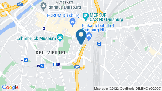 IntercityHotel Duisburg Map
