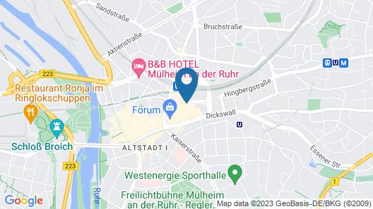 Best Western Hotel Im Forum Muelheim Map