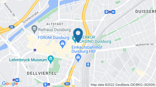 Mercure Hotel Duisburg City Map
