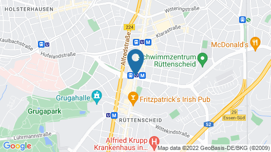 Novum Hotel Arosa Essen Map