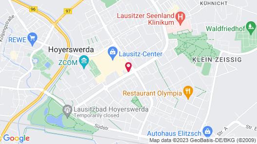 Akzent Congresshotel Hoyerswerda Map
