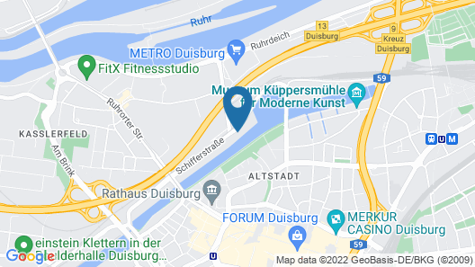 Rhein Yacht Lexa Map
