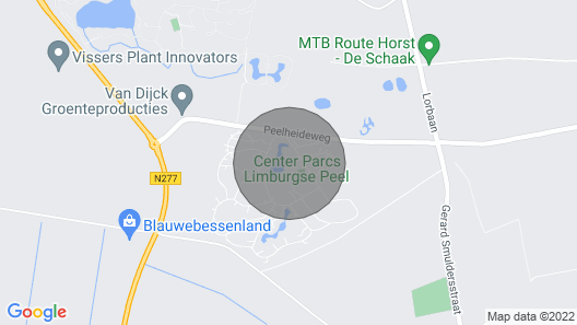 Vacation Home Center Parcs De Limburgse Peel in America - 5 Persons, 3 Bedrooms Map