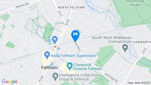 Harlington apartments Map
