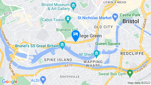 Travelodge Bristol Central Map