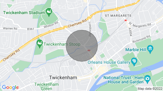 Modern Flat By Twickenham Station Map