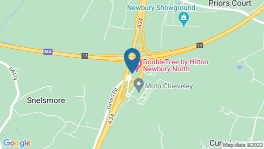 DoubleTree by Hilton Newbury North Map
