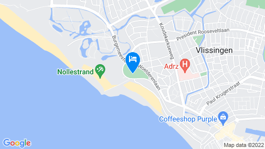 Luxurious Holiday Home With Dishwasher, 200 m From the Beach Map