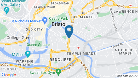 Hilton Garden Inn Bristol City Centre Map