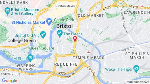 Hilton Garden Inn Bristol City Centre Map