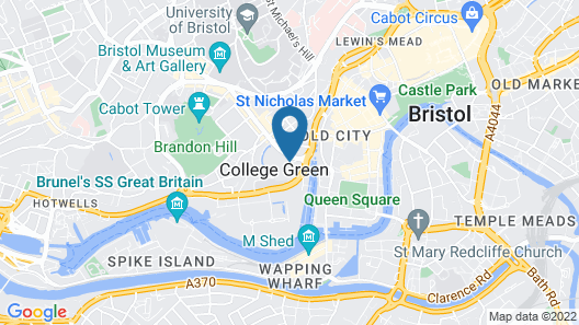 Bristol Marriott Royal Hotel Map