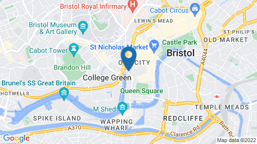 Radisson Blu Hotel Bristol Map