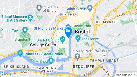 Mercure Bristol Brigstow Hotel Map