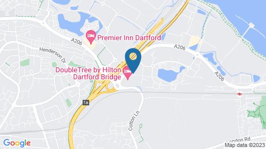 DoubleTree by Hilton Hotel Dartford Bridge Map