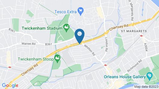 Twickenham Guest House Map