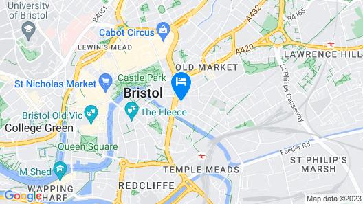 Leonardo Hotel Bristol Glassfields Map